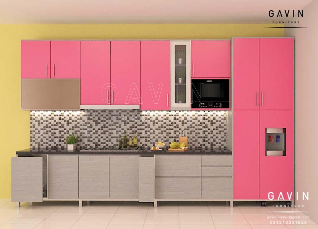 Kitchen Set Minimalis Modern Finishing Hpl Gavin Interior