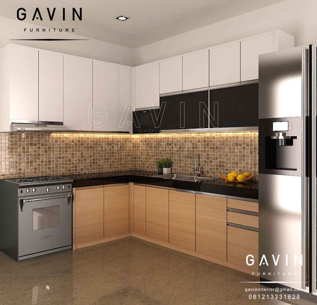 Kitchen Set Hpl Putih: Produksi Kitchen Set Dengan Finishing HPL Kombinasi Di BSD