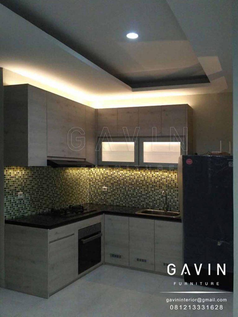 Harga Kitchen Set Untuk Dapur Minimalis Dengan Finishing Hpl Gavin