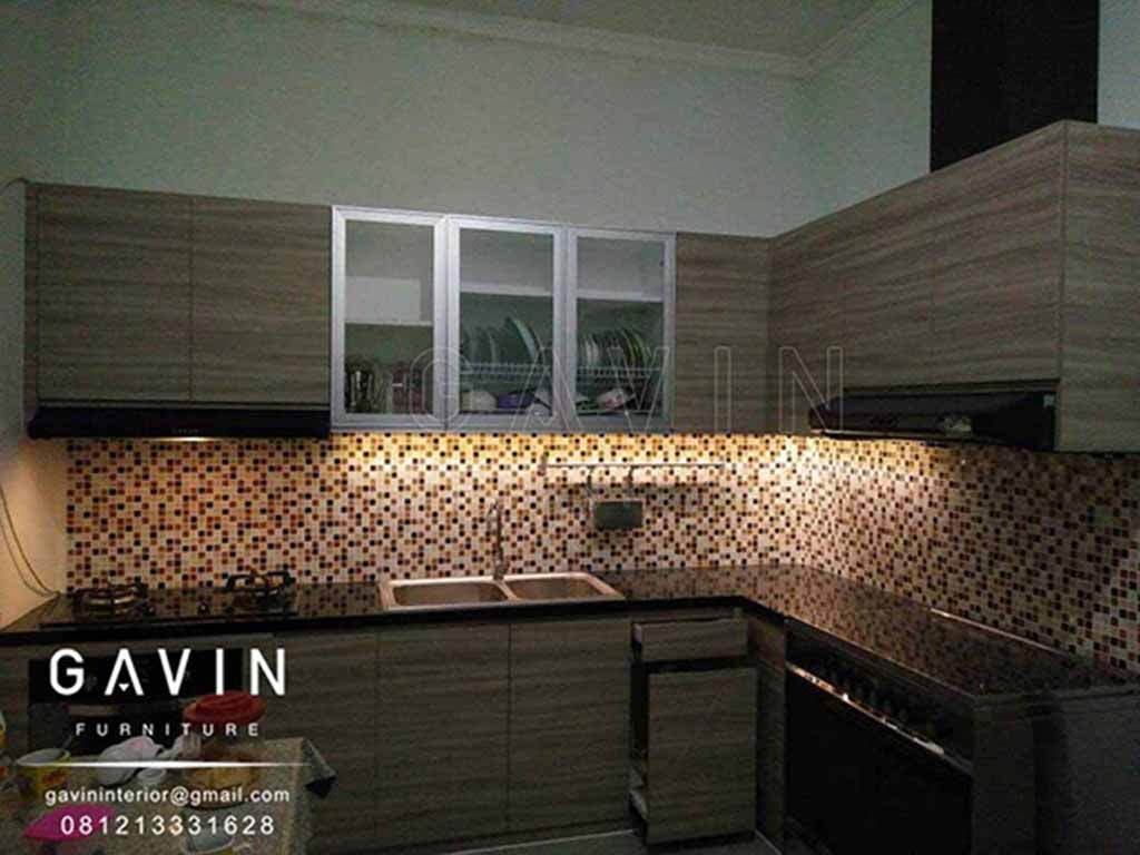 Model Kitchen Set Minimalis Letter L Finishing Hpl Gavin Interior