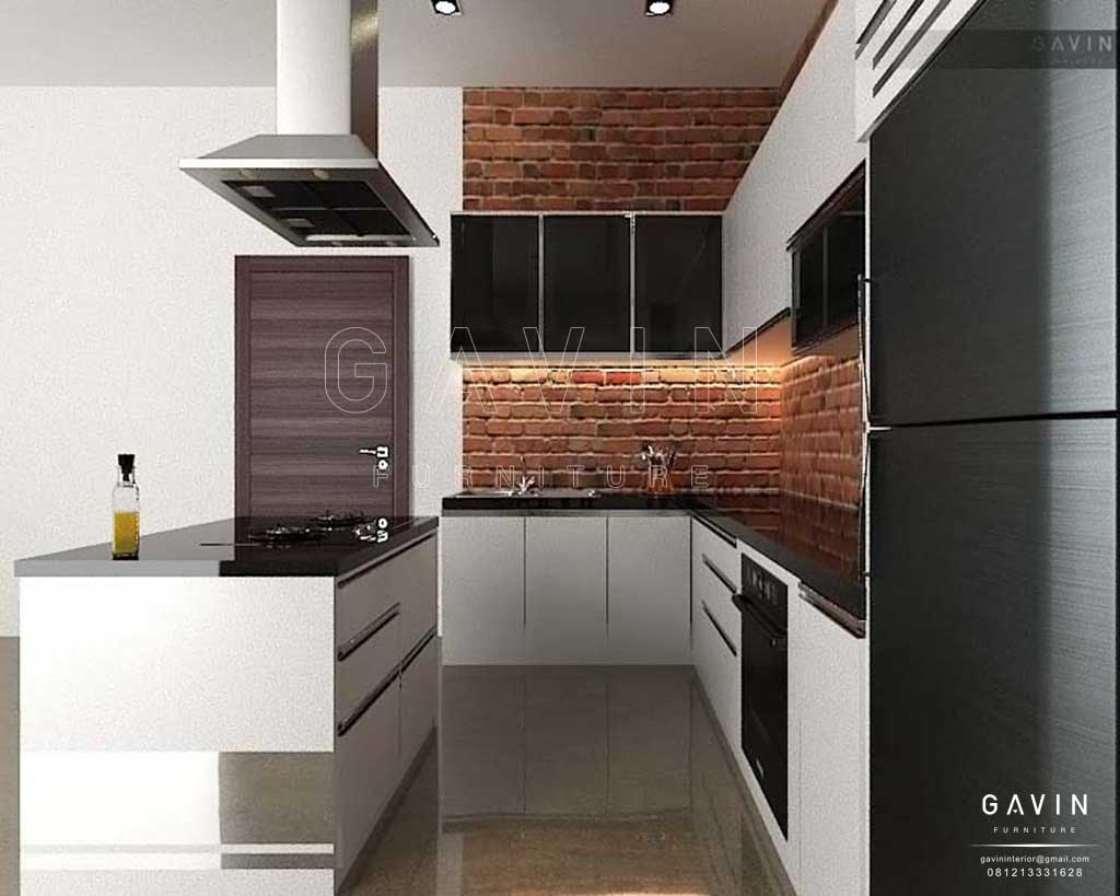 Pembuatan Kitchen Set Design Minimalis Model Letter L Gavin Interior