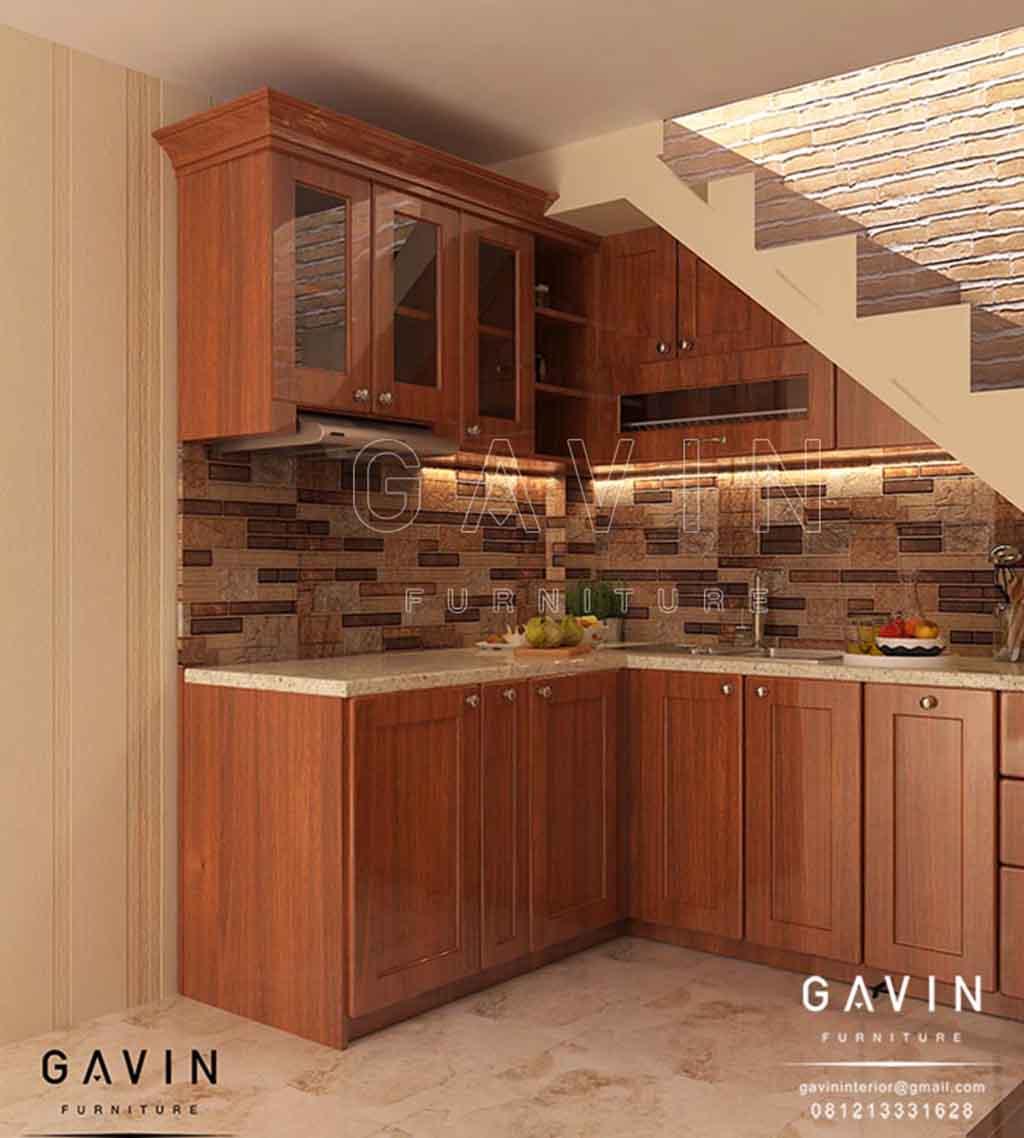 Kitchen Set Warna Kayu: Hasil Dari Pembuatan Kitchen Set Klasik Di Pulo Gebang