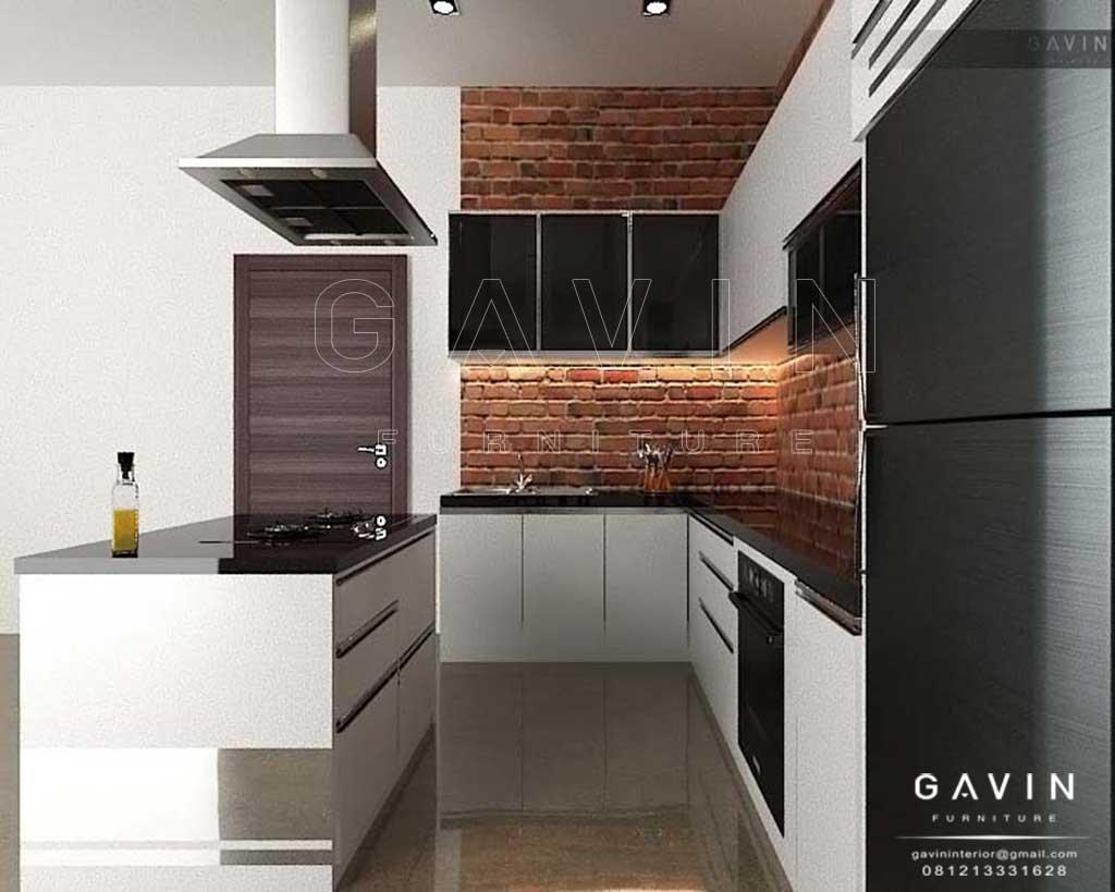 Superb Design Kitchen Set Minimalis Dan Island Hpl Glossy Q2175