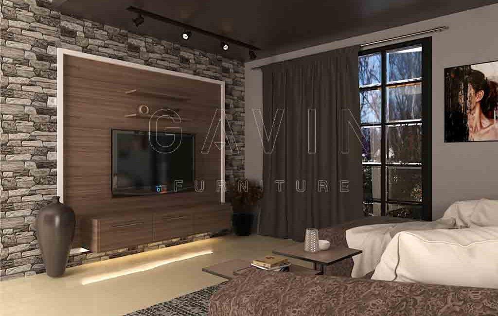 Model Backdrop TV Dengan Keramik Batu Project Di Pejompongan