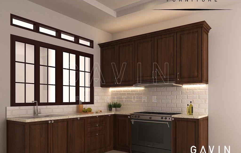 Kabinet Dapur Kotor Design Klasik Kayu Jati Project Di Ragunan