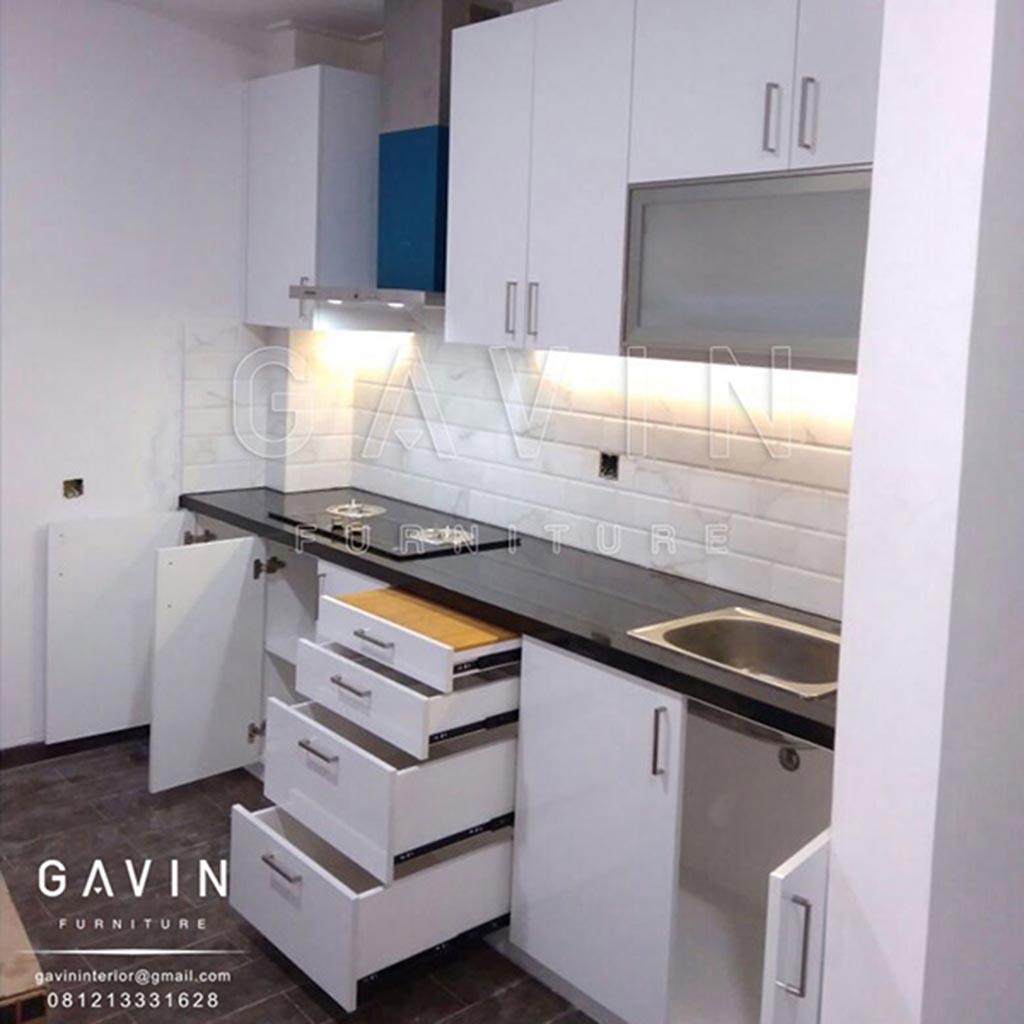 Harga Kitchen Set Hpl Per Meter Hpl Glossy Putih Project Kelapa