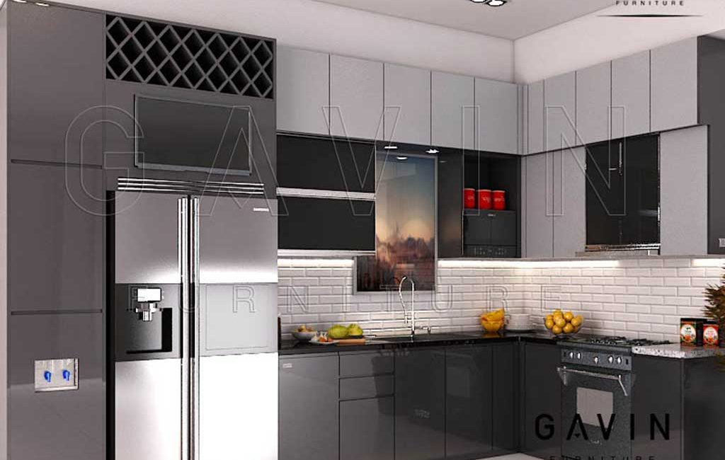 Perfect Kitchen Set Design Modern Warna Dark Grey Project Di Pamulang