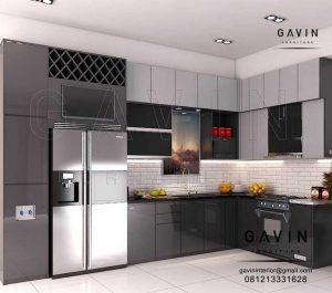 Kitchen Set Design Modern Warna Dark Grey Project Di Pamulang