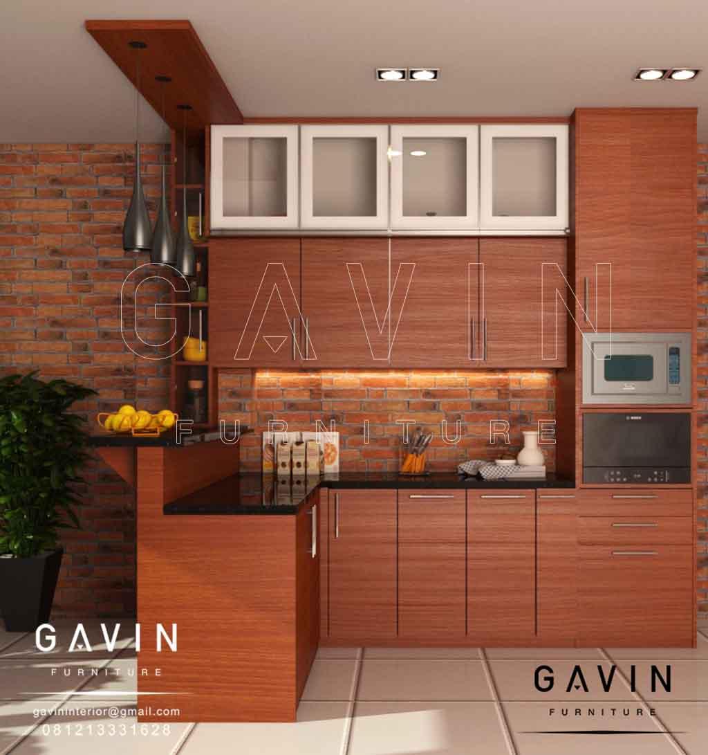 Kitchen Set Dengan Meja Bar Minimalis Di Tanah Sereal Tambora