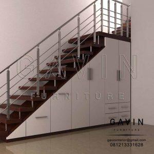 model lemari bawah tangga minimalis hpl glossy di Slipi Q2960