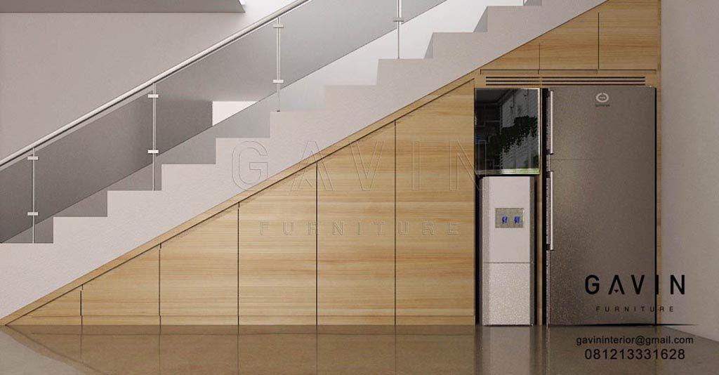 Lemari Bawah Tangga Design Minimalis Di Pamulang