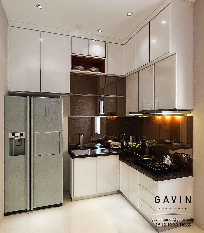 Kitchen Set Hpl Putih: Finishing HPL Putih Kitchen Apartemen Latumenten