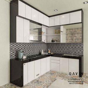 Gambar Lemari Dapur Warna Hitam Putih Pondok Cabe