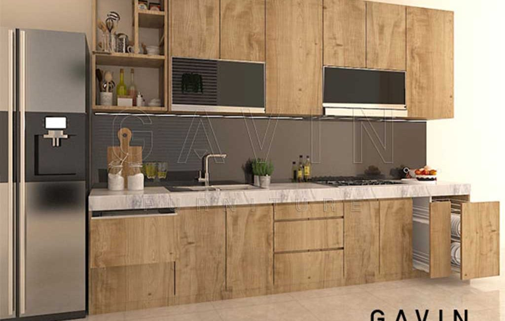 Gambar Kitchen Set Coklat Archives Gavin Interior