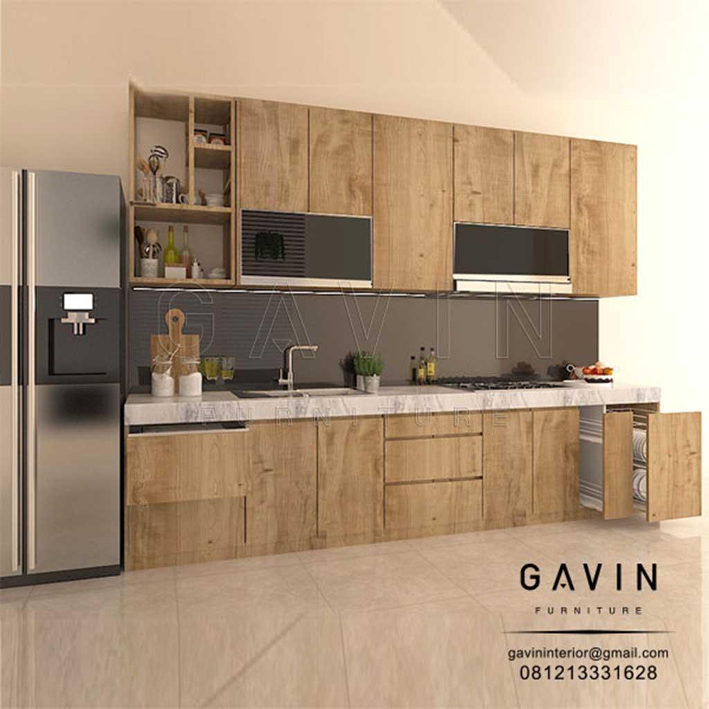 Kitchen Set Coklat HPL Klasik Letter I Cisauk