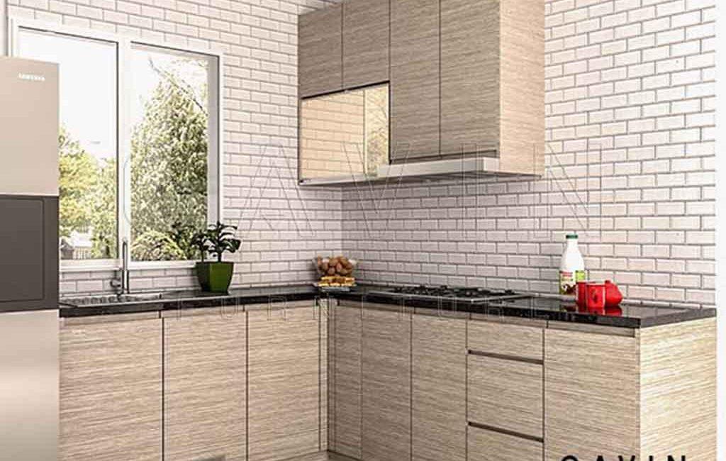 Contoh Kitchen Set Hpl Th 371 H Di Petukangan
