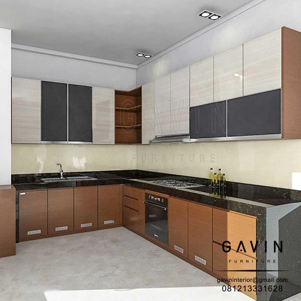 Kitchen Set Hpl Glossy: Kitchen Set Dapur HPL Kombinasi Melamic Di Greenville