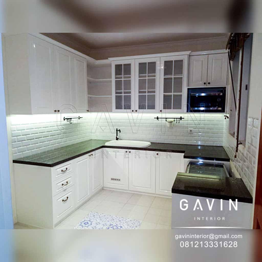 Kitchen Set Klasik Putih Klien Bekasi