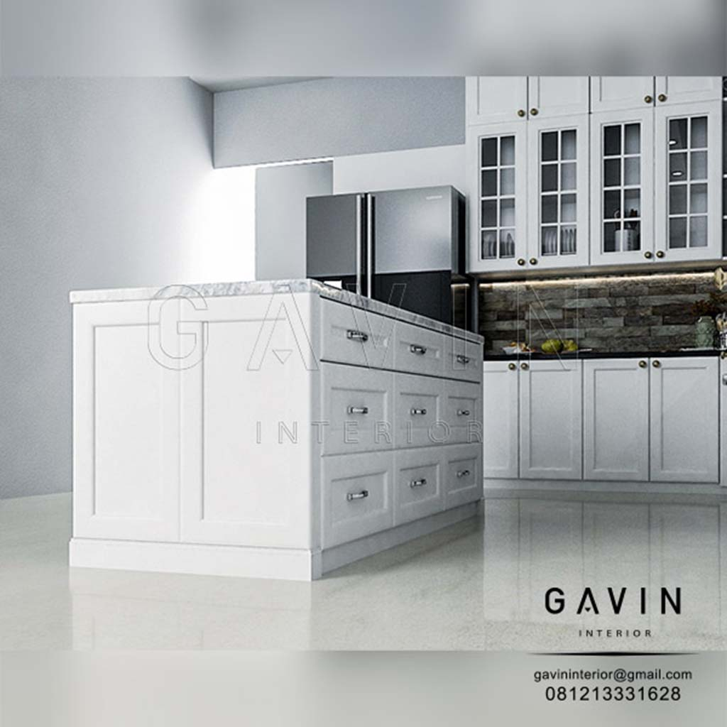Contoh Produksi Meja Island Custom Gavin Interior