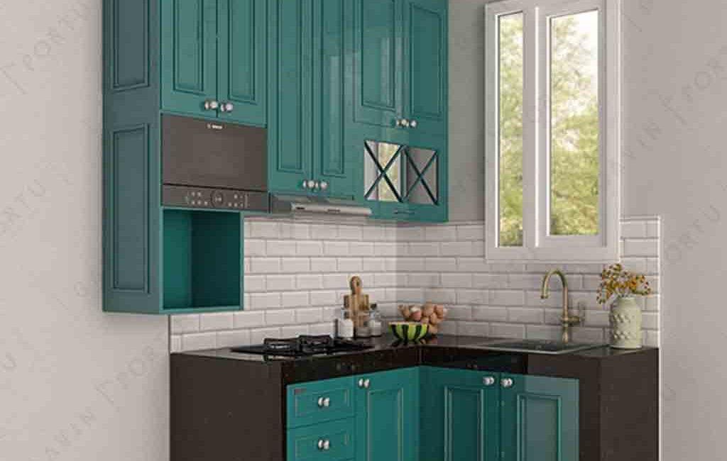 Contoh Kitchen Set Klasik Hijau Tosca Cipedak Jagakarsa
