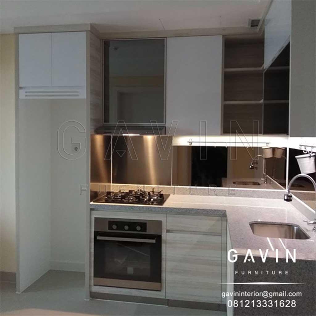 Kitchen Set Apartemen Minimalis Finishing Hpl Di Kebayoran Icon