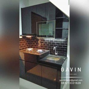 contoh kitchen set bawah tangga minimalis project joglo Q3228