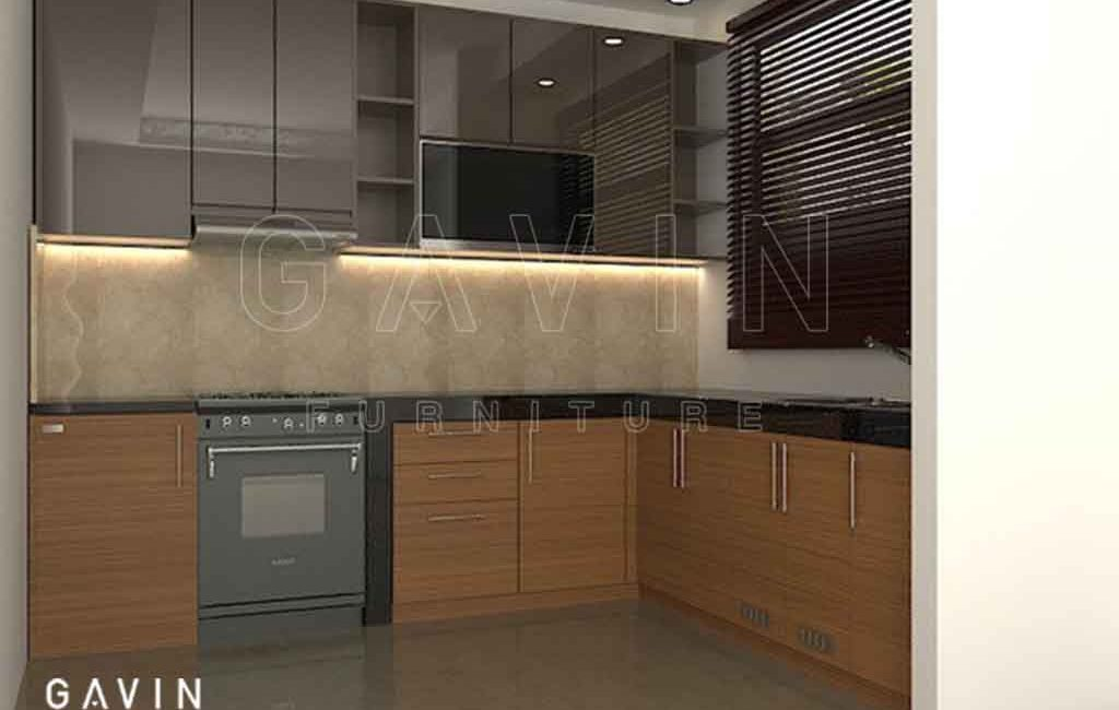 Kitchen Set Warna Mocca Glossy Project Duri Kepa Kebon Jeruk