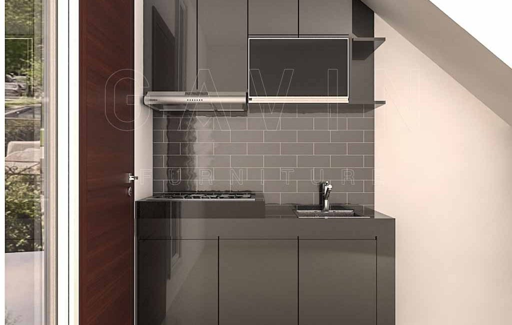 Kitchen Set Bawah Tangga Warna Hitam Archives Gavin Interior