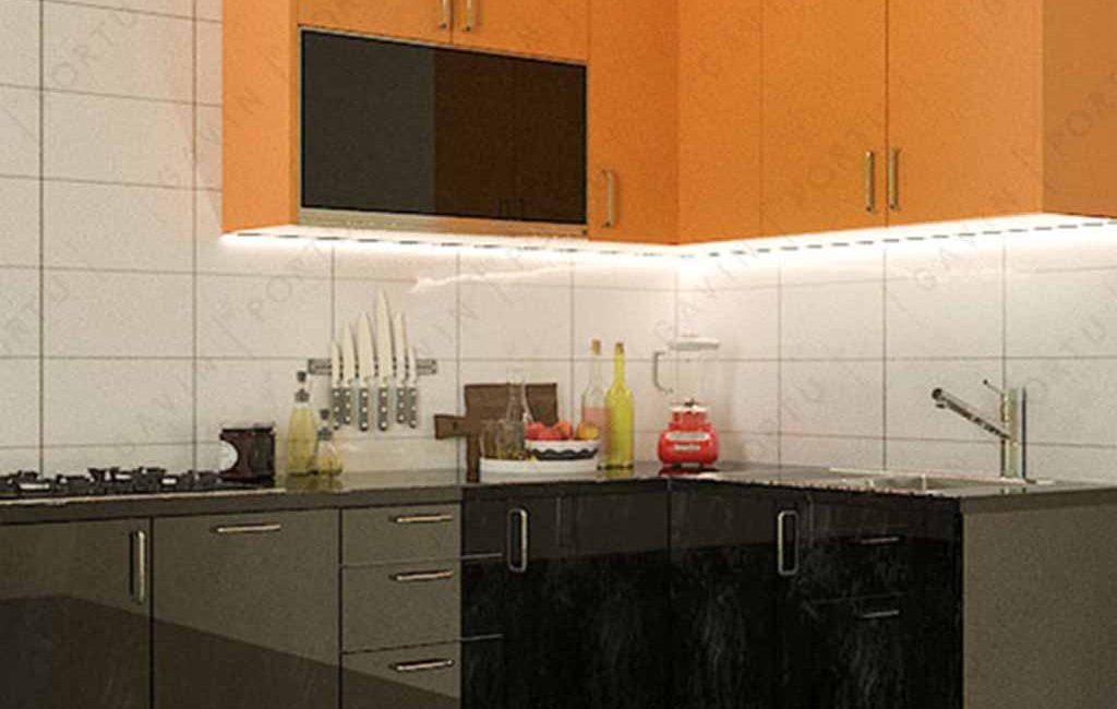 Kitchen Set Untuk Dapur Yang Kecil Di Green Lake City Cluster Amerika Jakarta Barat