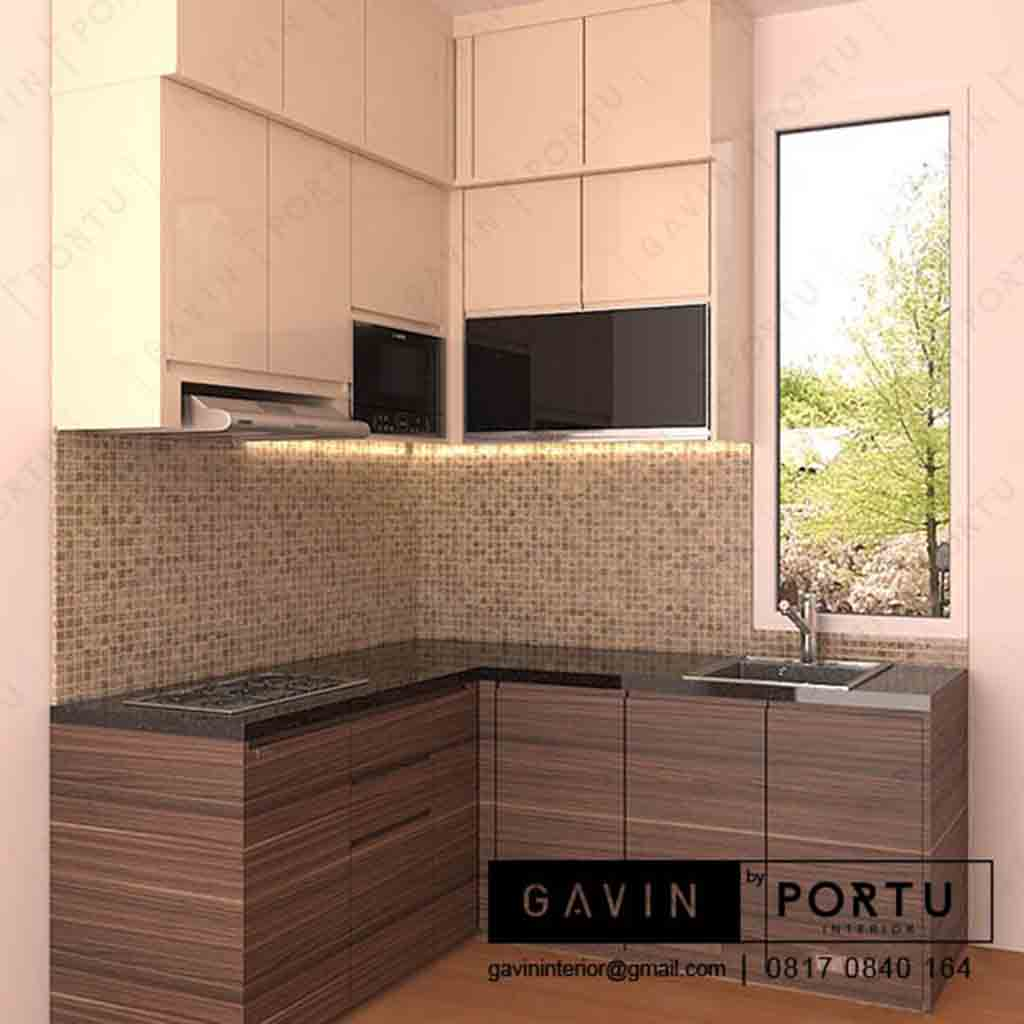 Design kitchen set simple dan cantik pasang di bintaro id3220