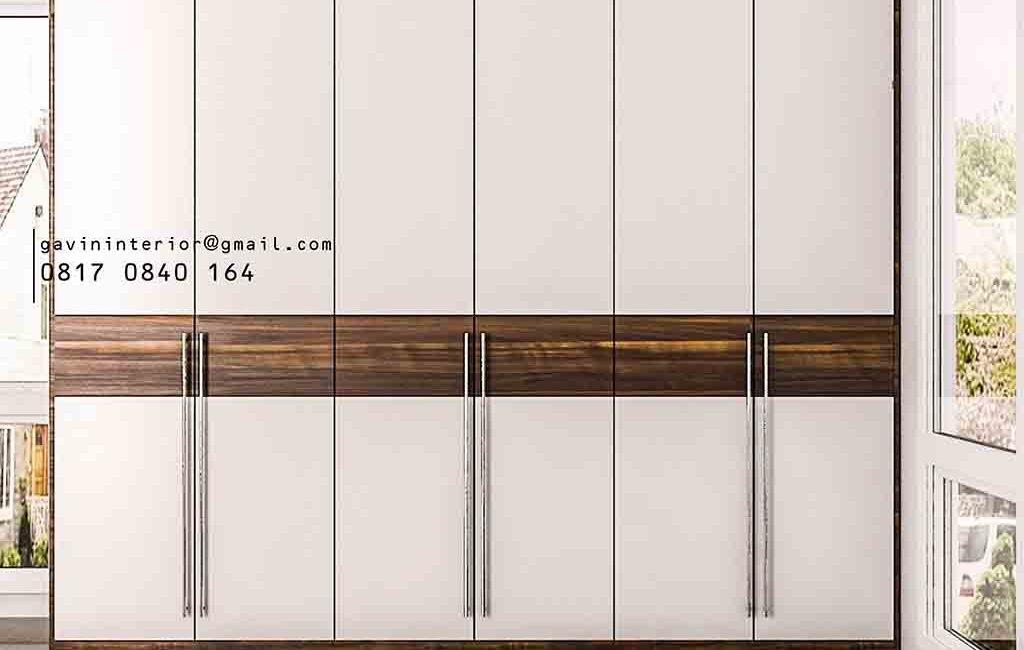 Lemari Baju Pintu Swing Desain Minimalis