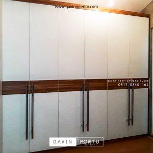 buat lemari pakaian pintu ayun design minimalis project di Pamulang id3427