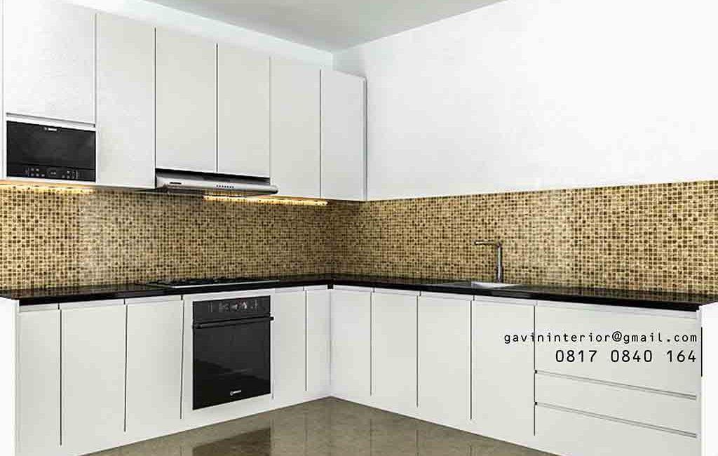 Design Lemari Dapur Warna Putih Di Summarecon Bekasi