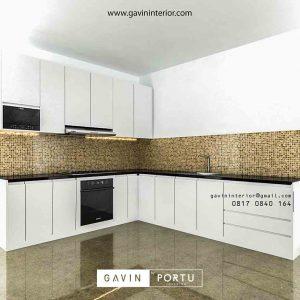 design lemari dapur minimalis modern warna putih di Bekasi id3423