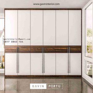 gambar lemari pakaian pintu ayun project di Pamulang id3427