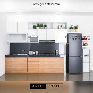 kitchen set bentuk i minimalis project di Bintaro id3488