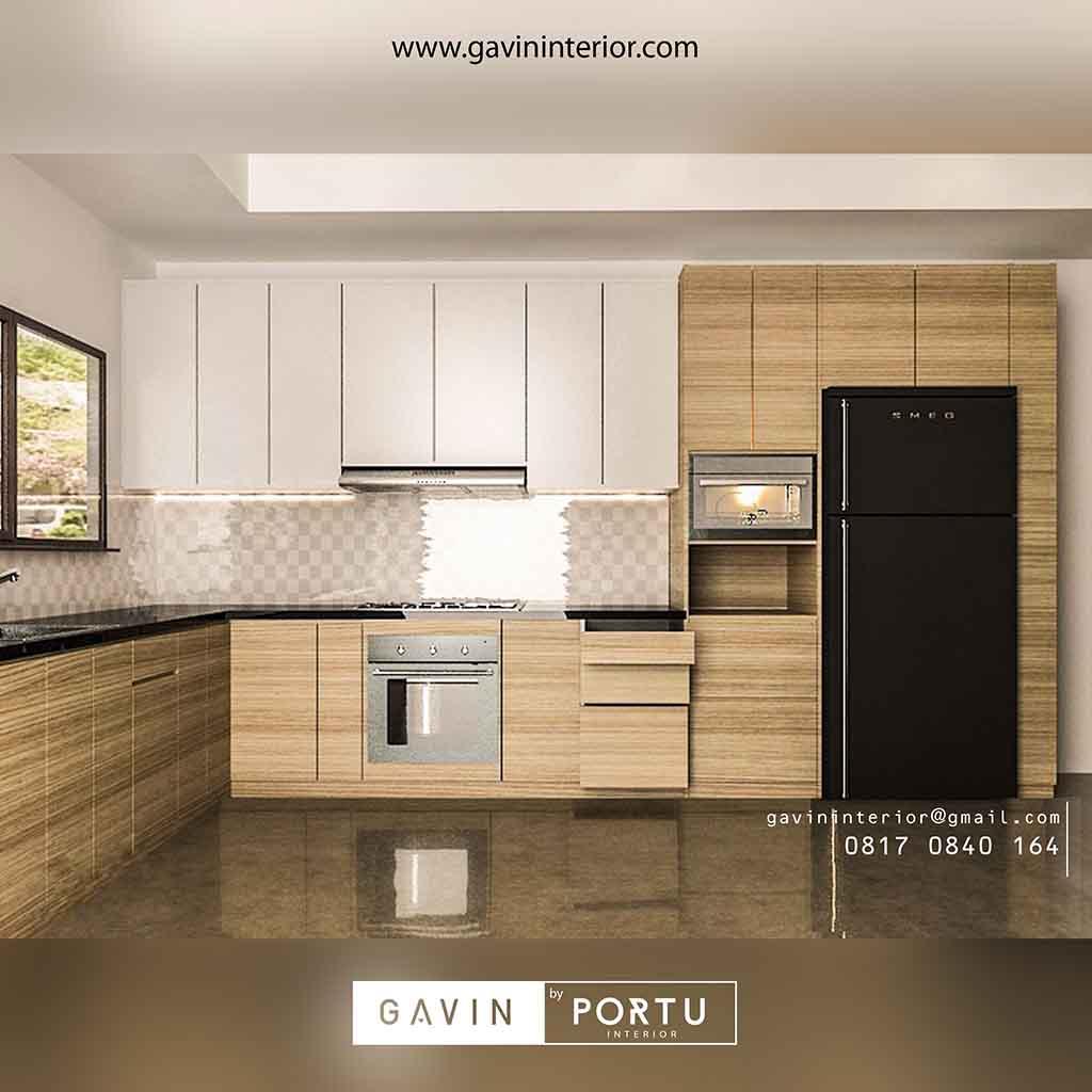 Kitchen Set Warna Coklat Muda Untuk Dapur Lebih Cantik