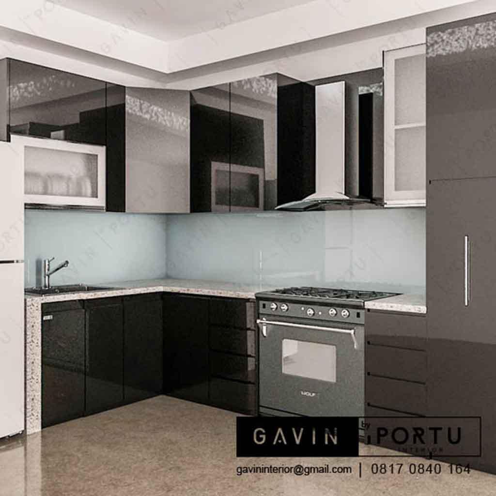 harga kitchen set anti rayap minimalis warna hitam - Gavin ...