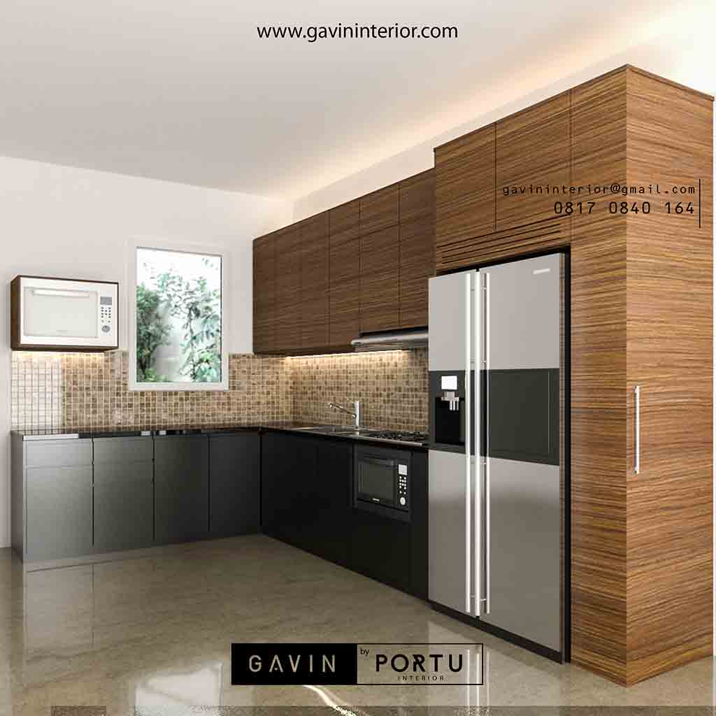 Kitchen Set Warna Coklat: Model Kitchen Set Minimalis Modern Warna Coklat Gavin