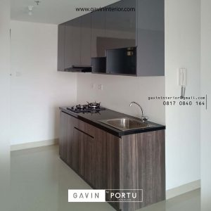 contoh kitchen set letter i apartemen minimalis by Gavin Interior id3454