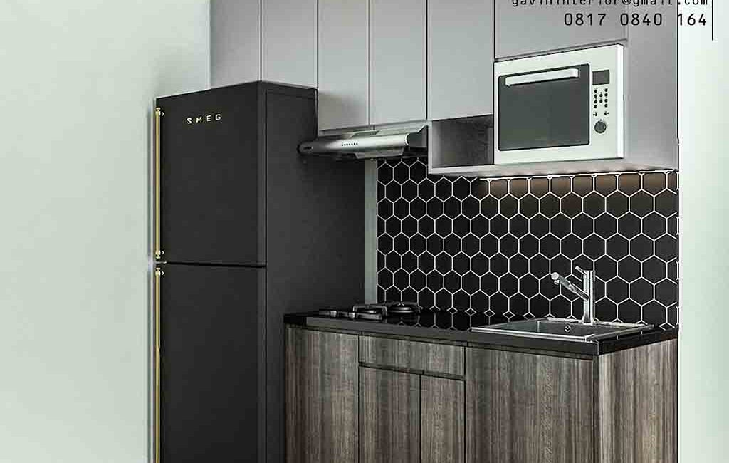 Kitchen Set Letter i Pasang Di Apartemen Green Signature Cawang