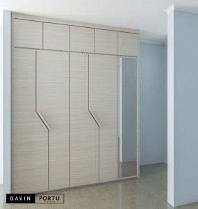 design lemari pakaian minimalis pintu swing id3391