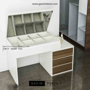 model meja rias minimalis kombinasi warna project Green Lake id3482