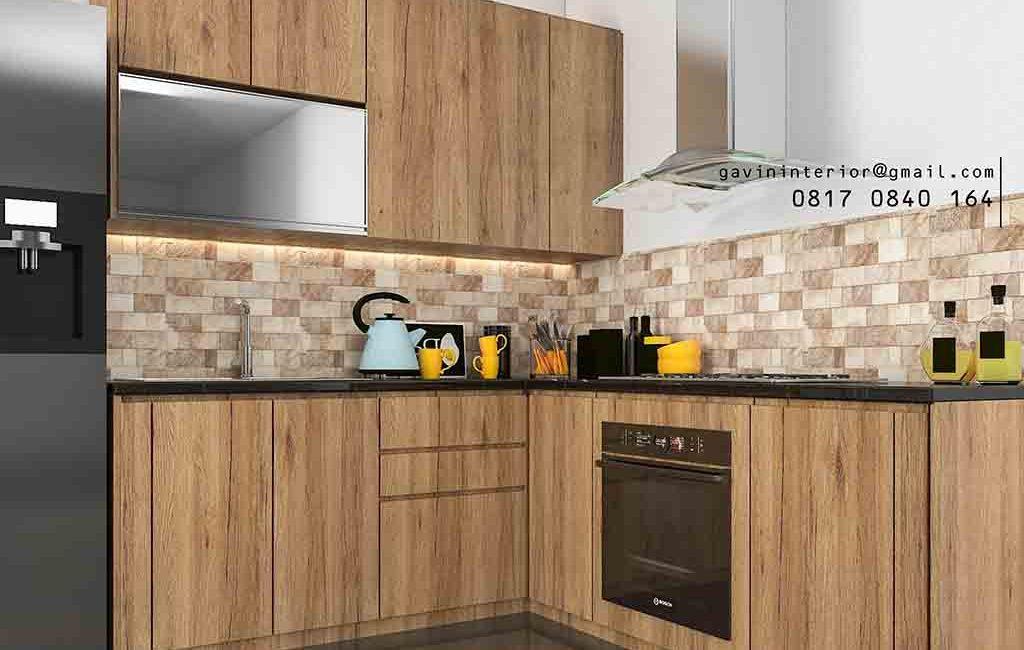 Kitchen Set HPL Coklat Perumahan Rafless Hils Cibubur