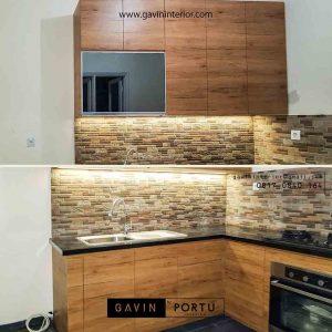 kitchen set hpl coklat minimalis di cibubur id3406