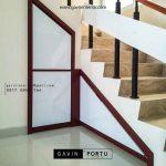 model lemari bawah tangga design minimalis bentuk L