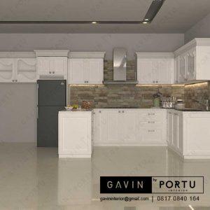 jual kitchen set desain klasik custom di Gavin Interior