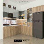kitchen set dapur minimalis bentuk L produksi Gavin Interior