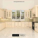 kitchen set klasik model U dengan island