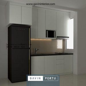 Desain Kitchen Set Minimalis Apartemen Sudirman Park Jakarta Utara id42337pt